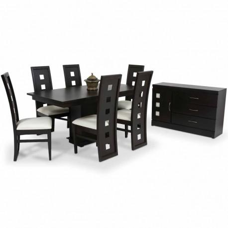 Comedor Quadro 6 sillas y Bufetero - Envío Gratuito