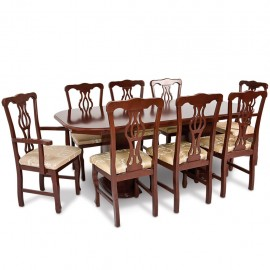 Comedor Emperador estilo clásico de 8 sillas