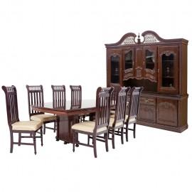 Comedor Cantabrico 8 sillas con vitrina y bufetero