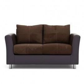 Love Seat Sueca tapizado en suade café