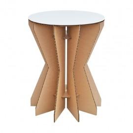 Paquete de 2 Mesas lateral X3 con cubierta D´glaf de cartón corrugado Incluye dos mesas - Envío Gratuito