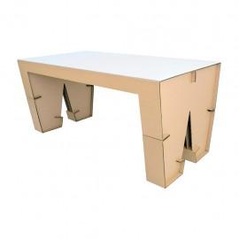 Mesa para cuatro sillas W2 con cubierta D glaf de cartón corrugado - Envío Gratuito