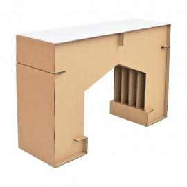 Mesa consola M2 con cubierta D glaf de cartón corrugado - Envío Gratuito