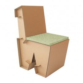 Paquete de Sillas W1 D glaf de cartón corrugado 2 Piezas - Envío Gratuito