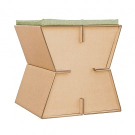 Taburete X1 D glaf de Cartón Corrugado 2 piezas - Envío Gratuito
