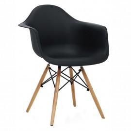 Sillon Replica Eames Con Brazos Negro