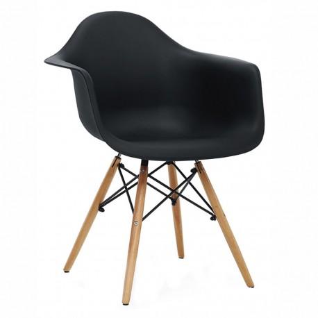 Sillon Replica Eames Con Brazos Negro - Envío Gratuito
