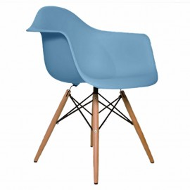 Sillon Replica Eames Con Brazos Azul