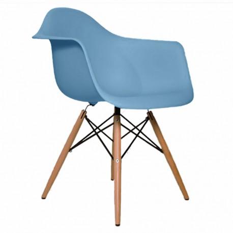 Sillon Replica Eames Con Brazos Azul - Envío Gratuito