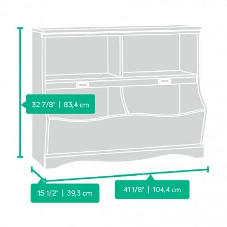 Librero Pogo Sauder Blanco 4 Compartimentos - Envío Gratuito