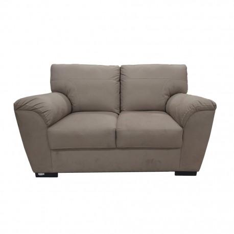 Love Seat Kemy Tapizado en Lino Beige - Envío Gratuito