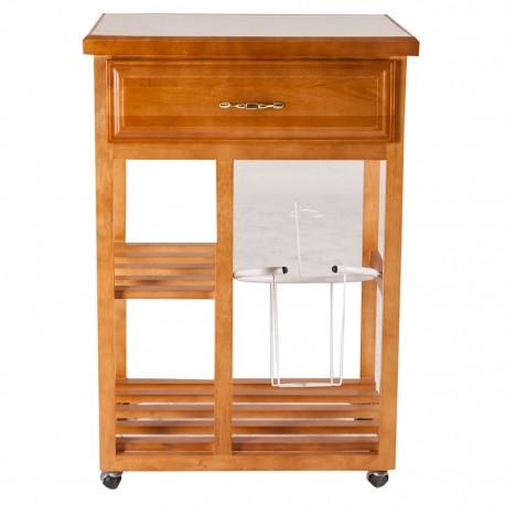 Mesa para microondas color nogal estilo clásico - Envío Gratuito