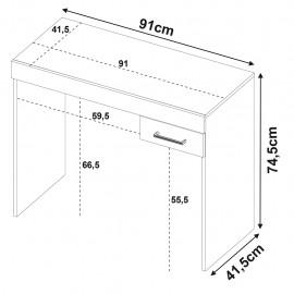 Mesa de Computo Bertolini Cooler Blanco c Negro