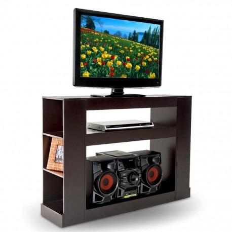 Mesa para Tv Malaga Estilo Contemporáneo Color Chocolate - Envío Gratuito