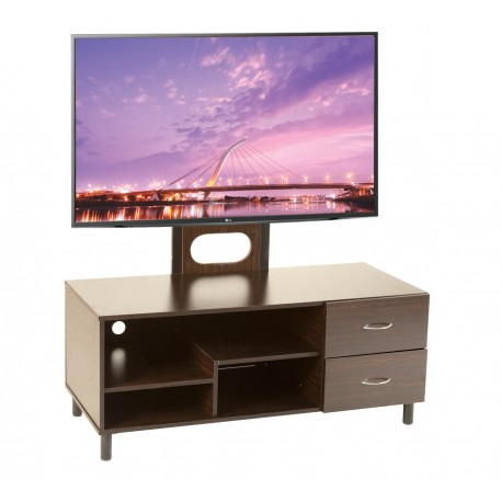 Mesa para Televisión Boro con 2 Cajones y Pedestal para Pantalla - Envío Gratuito