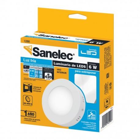 Lámpara circular 6W Luz Fría para sobreponer - Envío Gratuito