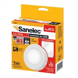 Lámpara circular 6W Luz Cálida para sobreponer