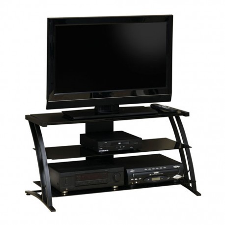 Mueble para TV Deco Sauder Negro 2 Repisas - Envío Gratuito