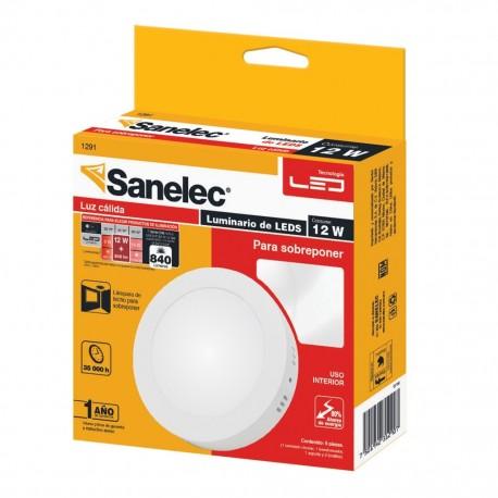 Lámpara circular 12W Luz Cálida para sobreponer - Envío Gratuito