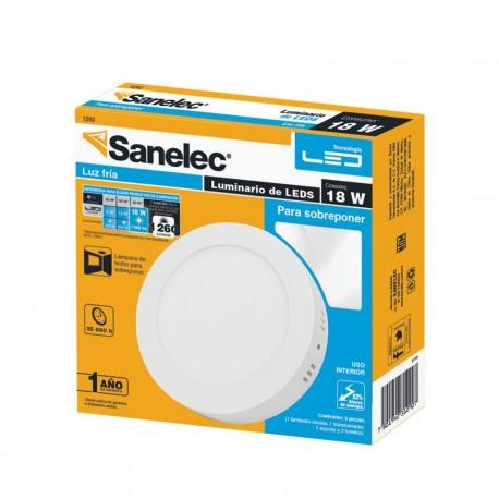 Lámpara circular 18W Luz Fría para sobreponer - Envío Gratuito