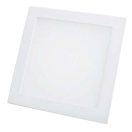 Lámpara cuadrada 18 watts luz fría para empotrar Sanelec - Envío Gratuito
