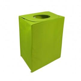 Cesto de Ropa Cubo Liso Verde CasaMia