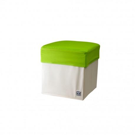 Caja Organizadora de Tela Beige con Verde - Envío Gratuito