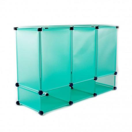 Organizador Cubos Hp50 Aqua CasaMia - Envío Gratuito