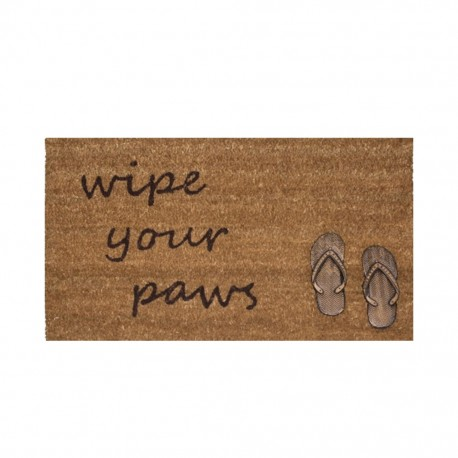 Tapete De Entrada Wipe Your Paws Sandals 45X75 CasaMia - Envío Gratuito