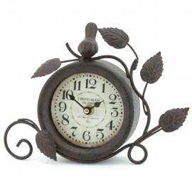 Reloj de Mesa Café Ramas y Pájaro