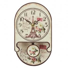 Reloj de Pared Torre Eiffel y Rosas