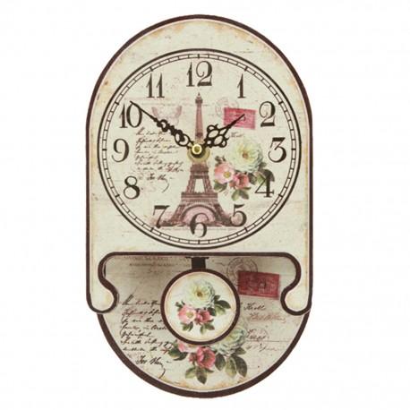 Reloj de Pared Torre Eiffel y Rosas - Envío Gratuito