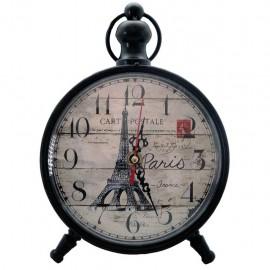 Reloj de Mesa Torre Eiffel Negro
