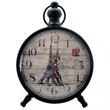 Reloj de Mesa Torre Eiffel Negro - Envío Gratuito
