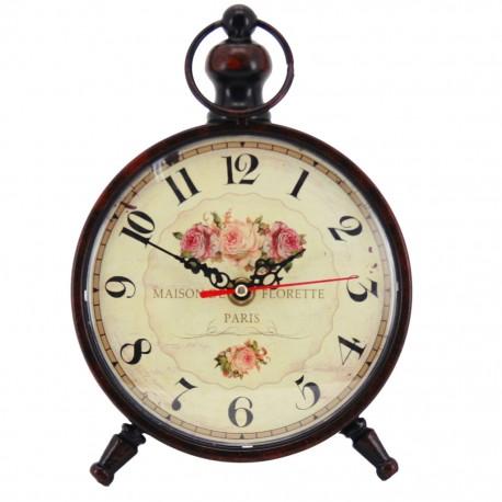 Reloj de Mesa Negro con Rosas - Envío Gratuito