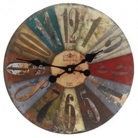 Reloj de Pared Multicolor