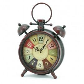 Reloj de Mesa Negro Carátula de Colores