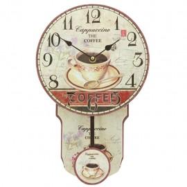 Reloj de Pared con Péndulo Café