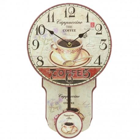 Reloj de Pared con Péndulo Café - Envío Gratuito