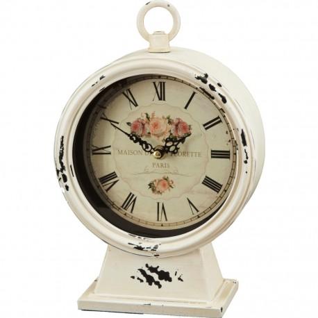 Reloj de Mesa Blanco con Rosas - Envío Gratuito