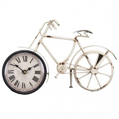Reloj de Mesa Bicicleta Blanca - Envío Gratuito