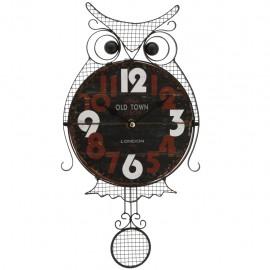 Reloj de Pared Búho Negro con Café