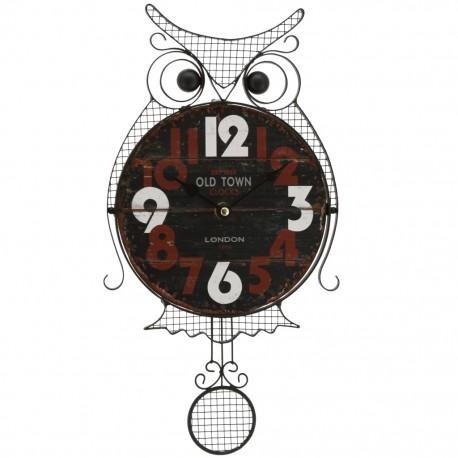 Reloj de Pared Búho Negro con Café - Envío Gratuito