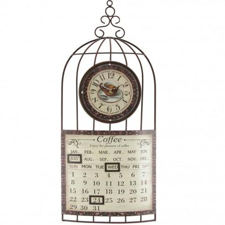 Reloj de Pared Calendario Café - Envío Gratuito