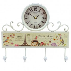 Reloj de Pared Perchero Multicolor