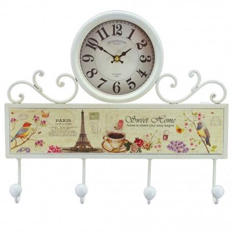 Reloj de Pared Perchero Multicolor - Envío Gratuito