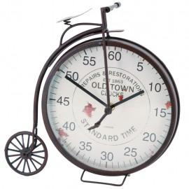 Reloj de Mesa Bicicleta Rueda Grande Negro