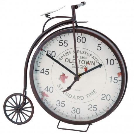 Reloj de Mesa Bicicleta Rueda Grande Negro - Envío Gratuito