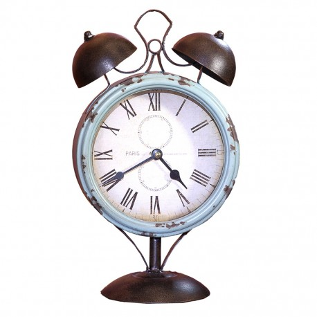 Reloj de Mesa Vintage Azul Cielo - Envío Gratuito