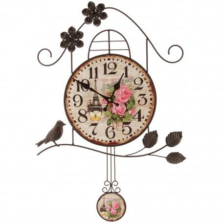Reloj de Pared Vintage Casa de Pájaro Multicolor - Envío Gratuito